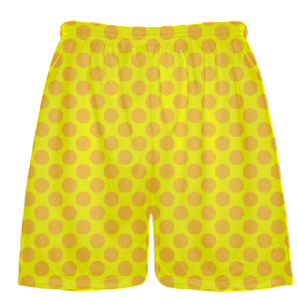 Yellow+Athletic+Gold+Polka+Dot+Shorts+-+Polka+Dot+Lacrosse+Shorts+-+Athletic+Shorts