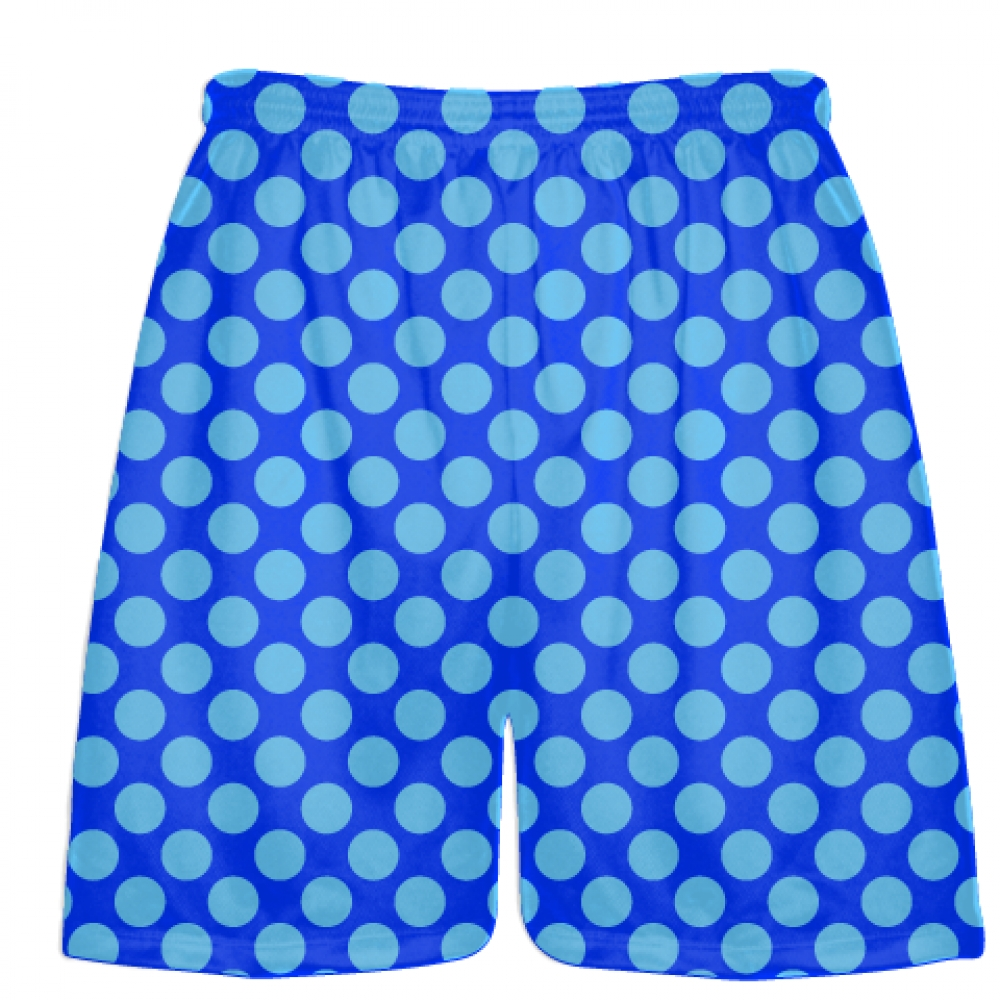 Royal+Blue+Powder+Polka+Dot+Shorts+-+Athletic+Shorts+Pockets+-+Youth+Adult+Shorts