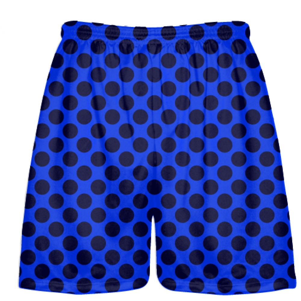 Royal+Blue+Navy+Blue+Polka+Dot+Shorts+-+Athletic+Shorts+Pockets+-+Youth+Adult+Shorts