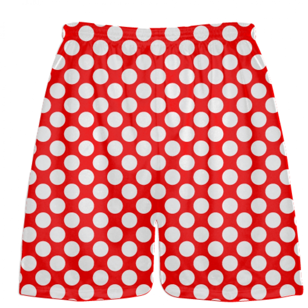 Red+White+Polka+Dot+Shorts+-+Boys+Lacrosse+Shorts+-+Mens+Lacrosse+Short