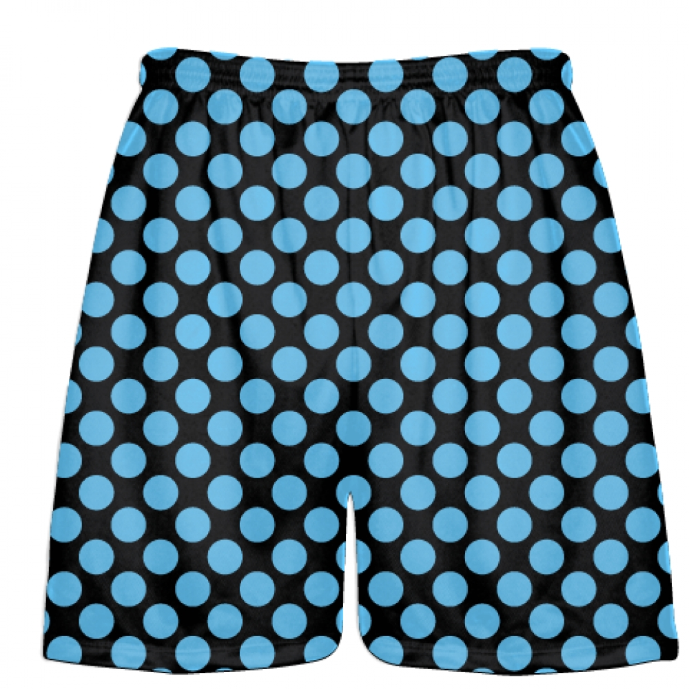Black+Light+Blue+Polka+Dots+Lacrosse+Shorts+-+Boys+Lacrosse+Short+-+Mens+Shorts