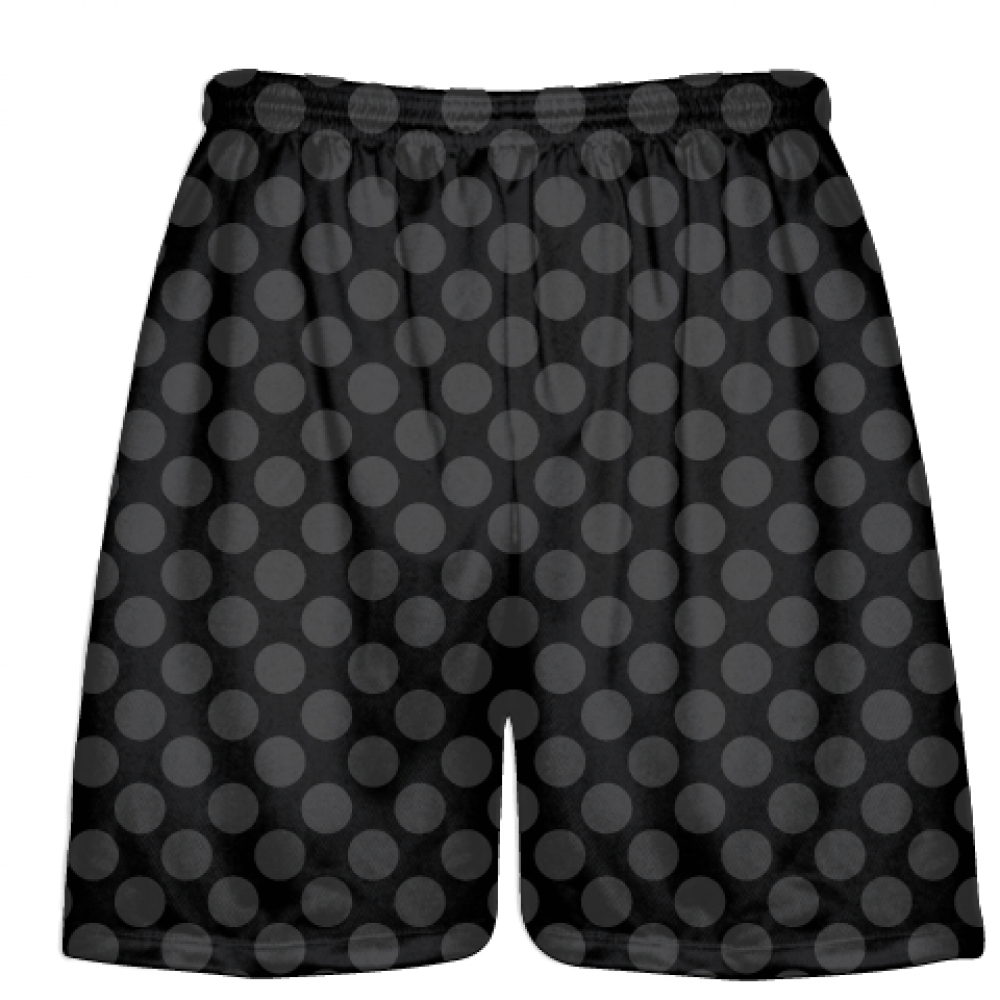 Black+Charcoal+Gray+Polka+Dots+Lacrosse+Shorts+-+Boys+Lacrosse+Short+-+Mens+Shorts