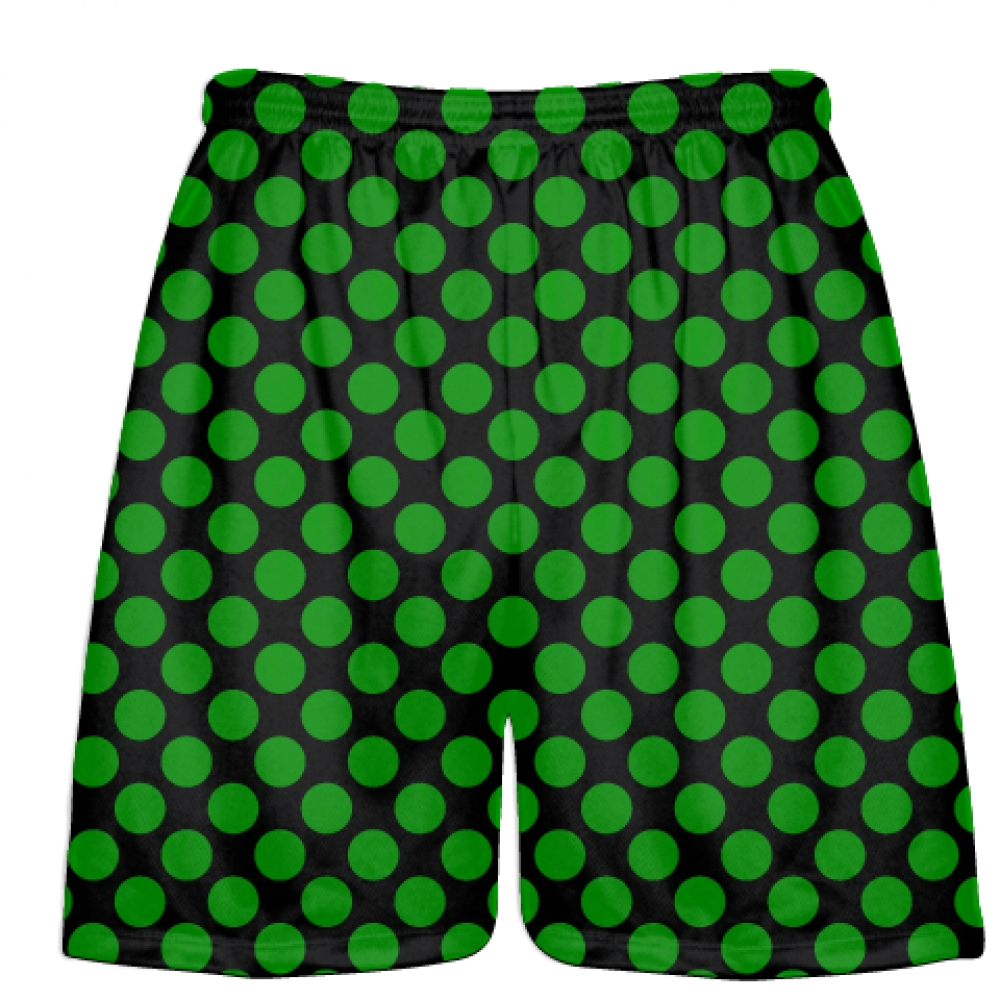 Black+Kelly+Green+Polka+Dots+Lacrosse+Shorts+-+Boys+Lacrosse+Short+-+Mens+Shorts