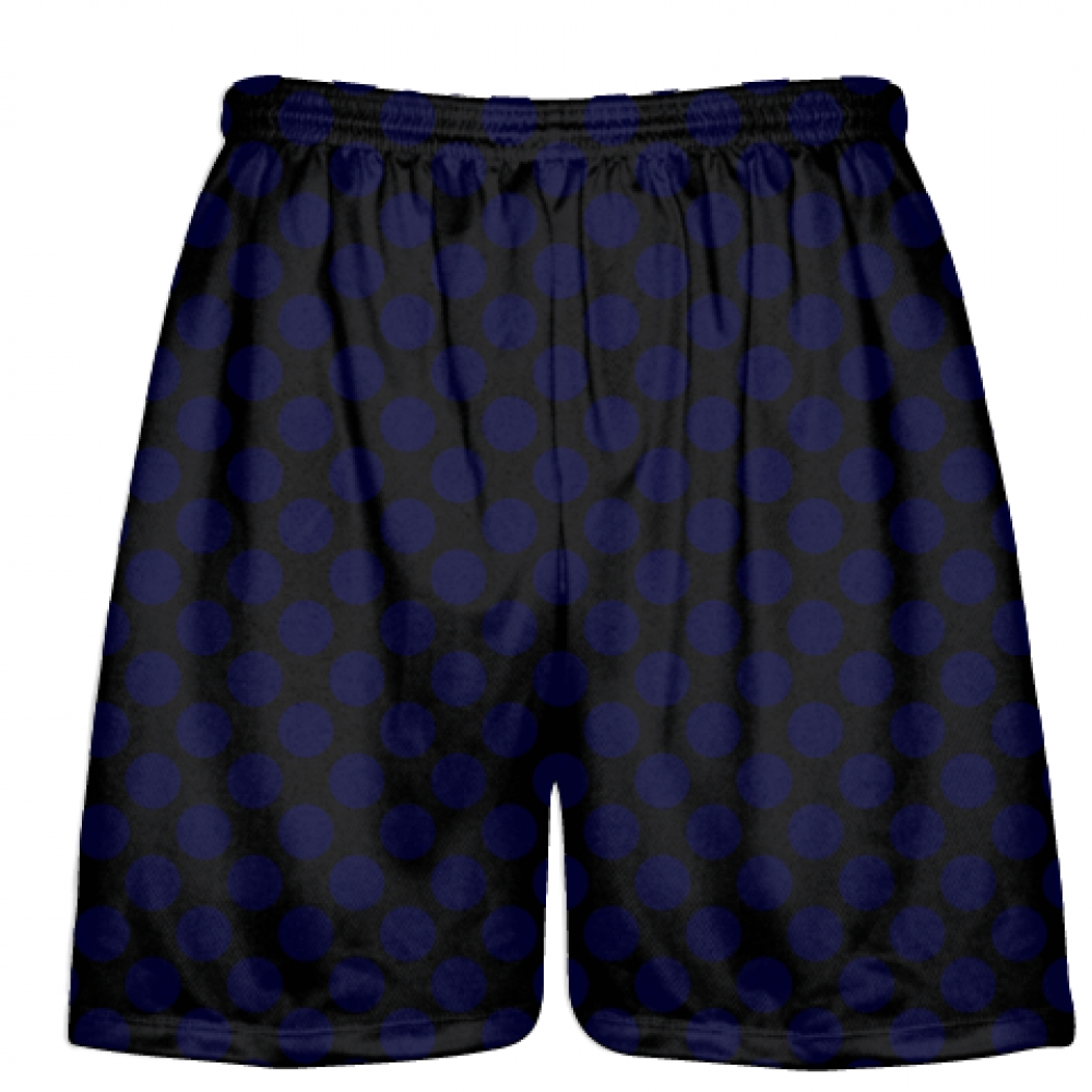 Black+Navy+Blue+Polka+Dots+Lacrosse+Shorts+-+Boys+Lacrosse+Short+-+Mens+Shorts