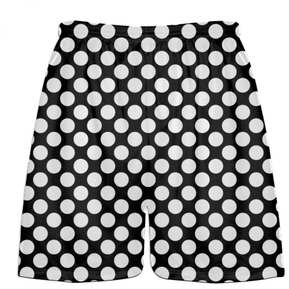 Black+White+Polka+Dots+Lacrosse+Shorts+-+Boys+Lacrosse+Short+-+Mens+Shorts