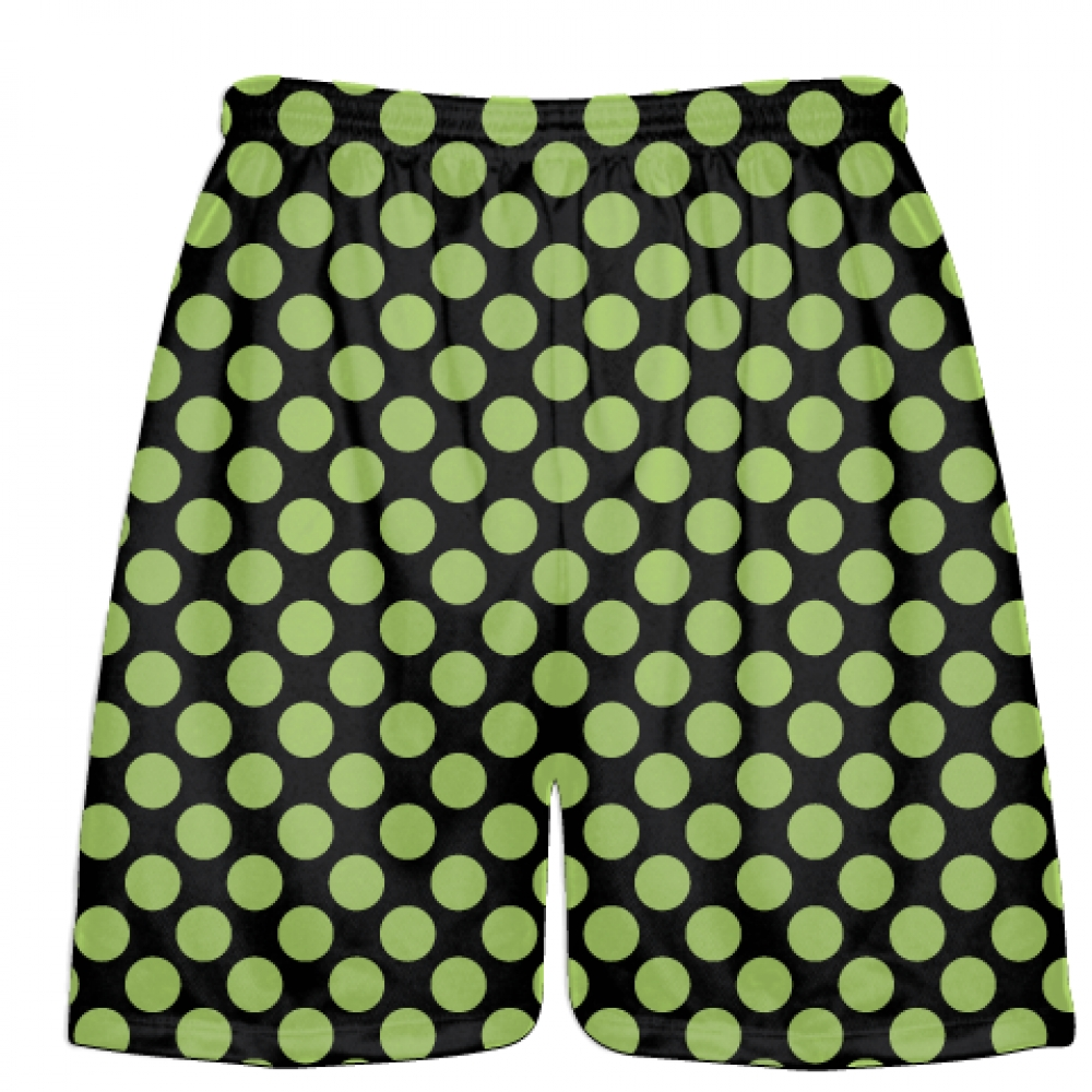 Black+Lime+Green+Polka+Dots+Lacrosse+Shorts+-+Boys+Lacrosse+Short+-+Mens+Shorts