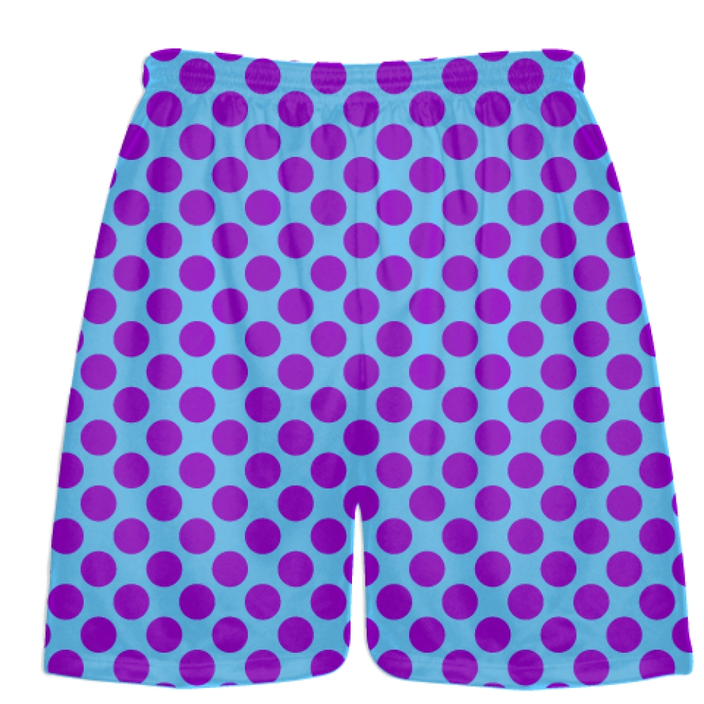 Powder+Blue+Purple+Polka+Dotted+Shorts+-+Polka+Dot+Shorts+-+Adult+Youth+Shorts