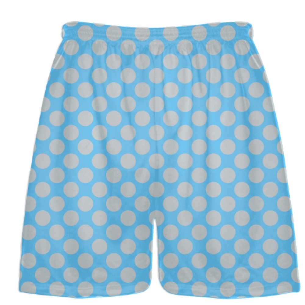 Powder+Blue+Silver+Polka+Dotted+Shorts+-+Polka+Dot+Shorts+-+Adult+Youth+Shorts