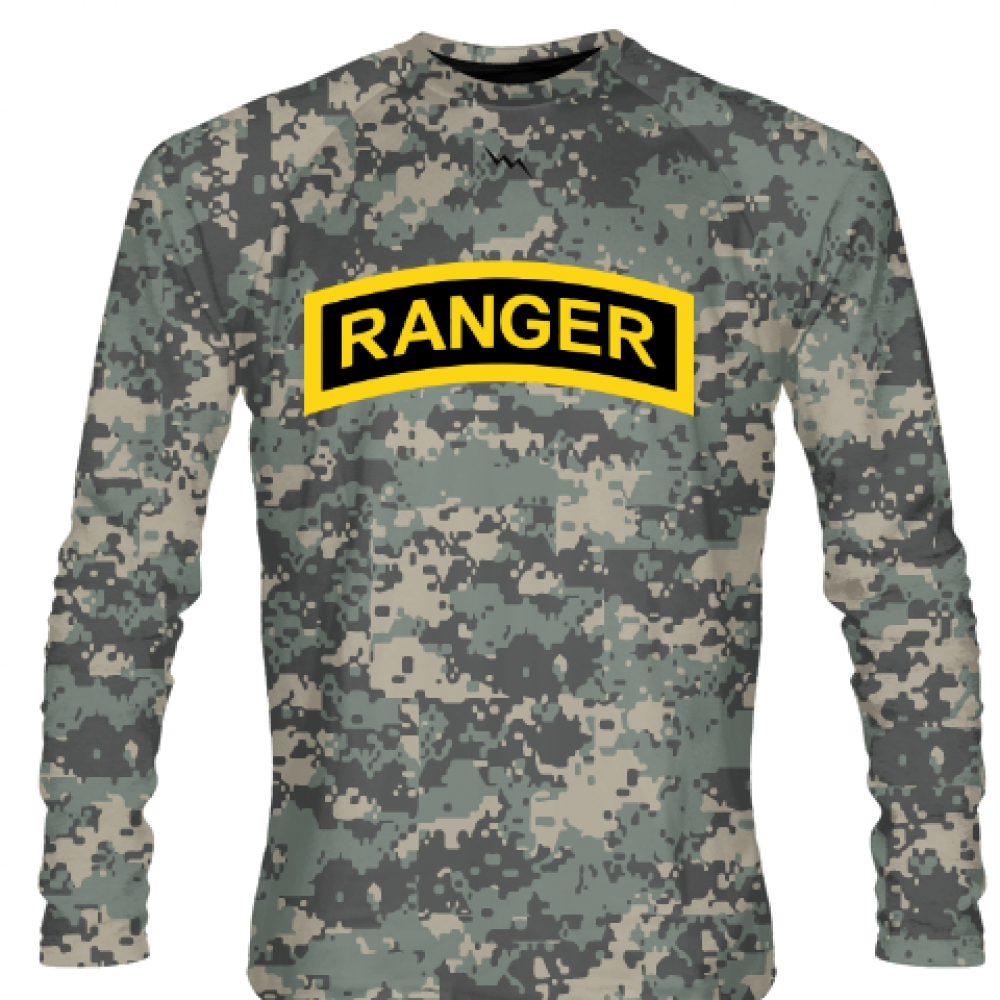 Faded+Green+Digital+Camouflage+Army+Ranger+Long+Sleeve+Shirts+-+Long+Sleeve+Shooter+Shirts