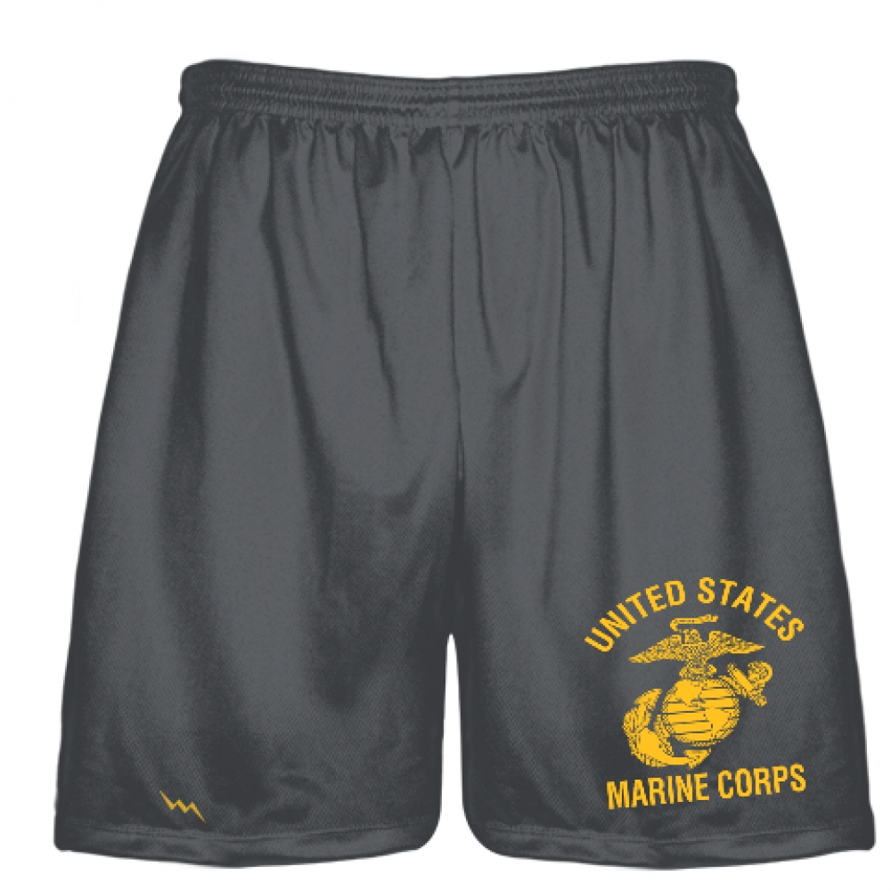 Charcoal+Gray+Marine+Shorts+-+Athletic+Shorts+Gray+Marine+Logo+-+Boys+Mens+Shorts