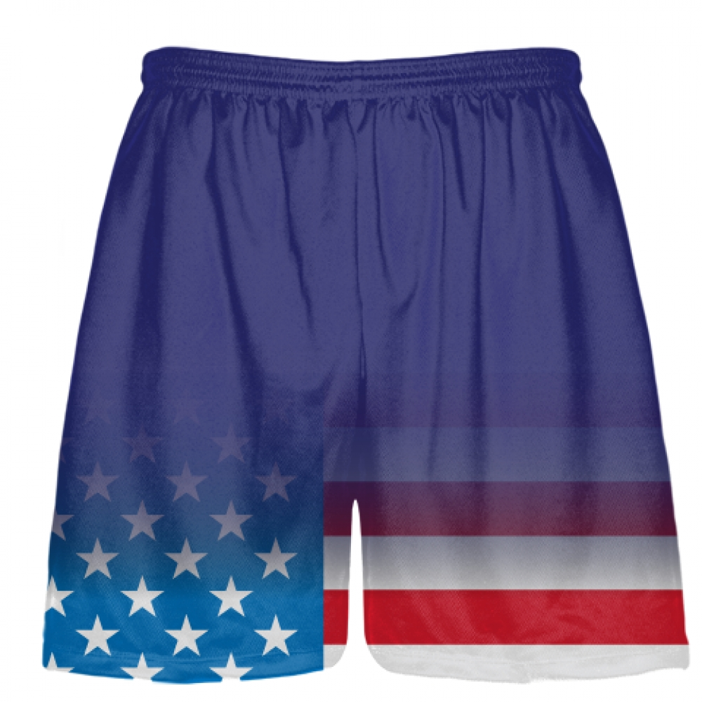 Royal+Blue+USA+Fade+Lacrosse+Shorts