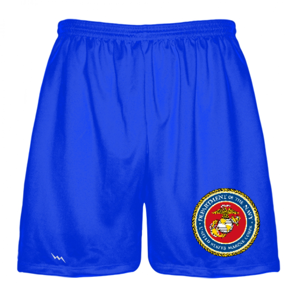 Royal+Blue+Marine+Corp+Shorts+Full+Color+Logo