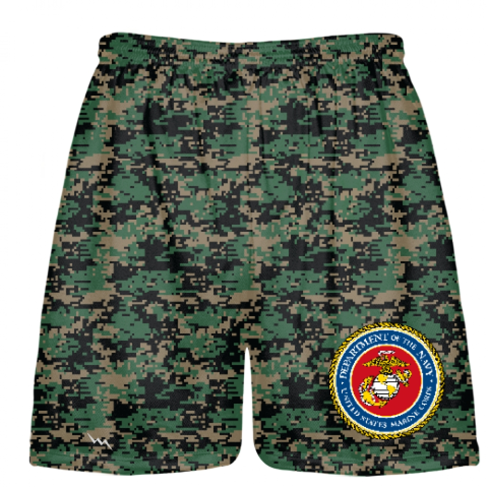 Digital+Camo+Marine+Corp+Shorts+Full+Color+Logo