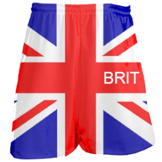 British Flag Shorts  - Custom lacrosse shorts