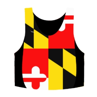 Maryland Flag Pinnies - Custom Maryland Flag Reversibles