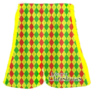 Christmas Lacrosse Shorts - Holiday Lacrosse Gifts
