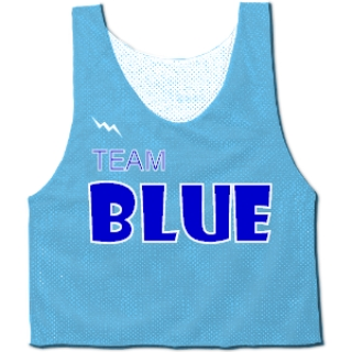Blue Camp Pinnies - Custom Camp Jerseys