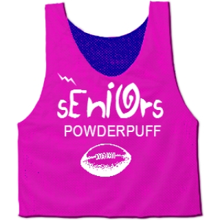 Powderpuff Pinnies - Custom Powder Puff Pinnies for Seniors