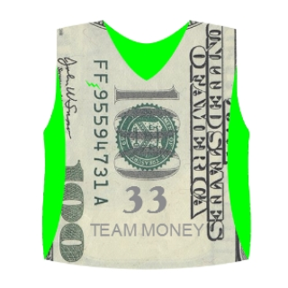 Dollar Bill Pinnies | Sublimated Lax Pinnies