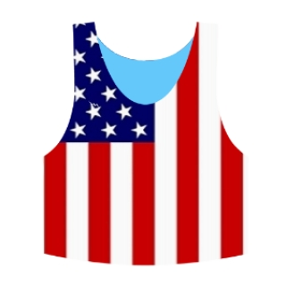 American Flag Pinnie | American Flag Lacrosse Pinnies