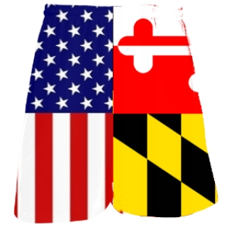 Maryland Flag Lacrosse Shorts | USA Flag Combo