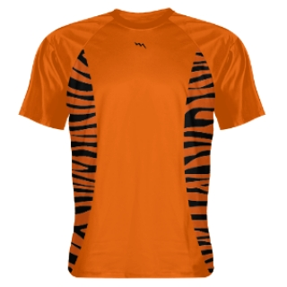 Custom Shooting Shirts Orange Tiger Sides