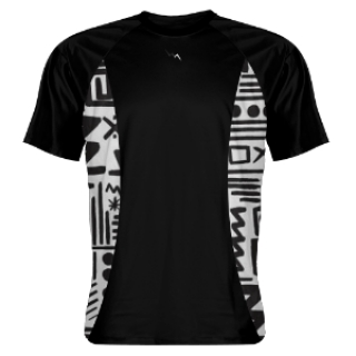 Shooter Shirts Tribal Sides Black