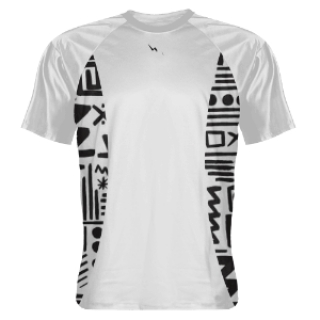 White Shooting Shirts Tribal Sides White