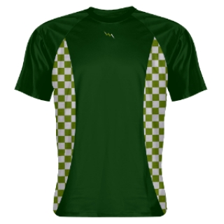 Forest Green Shooting Shirts Checker Sides Green