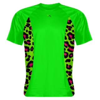 Neon Green Shooting Shirts Cheetah Sides Green