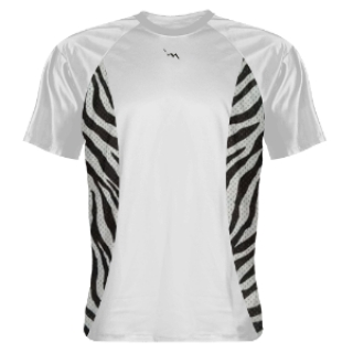 Shooting Shirts Zebra Sides White