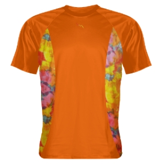 Orange Shooting Shirts Tie Dye Sides Orange