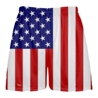 American Flag Lax Shorts