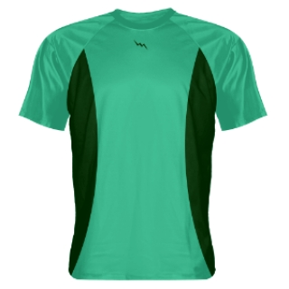Teal Shooting Shirts With Green Sides