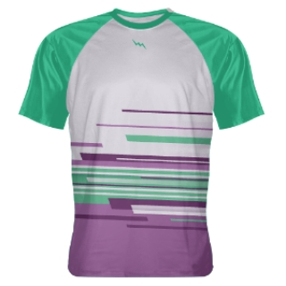 Purple Teal Abstract Custom T Shirts