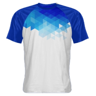 Abstract Blue Shooter Shirts
