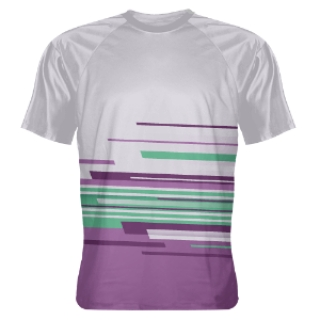 Abstract Purple Grey Lacrosse Shirts - Shooter Shirts