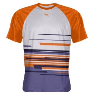 Navy Orange Abstract Shooting Shirts