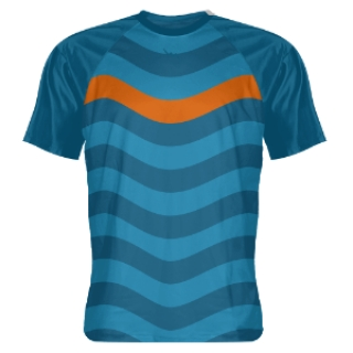 Ocean Blue Abstract Sports Shooter Shirts