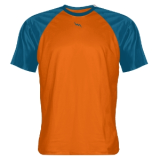 Orange Ocean Blue Custom Warmup Shirts