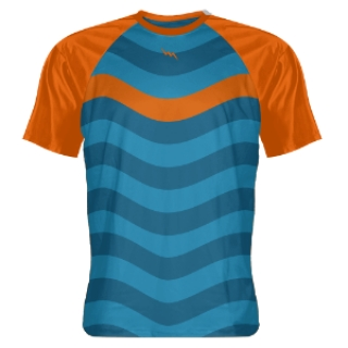 Orange Ocean Blue Abstract Sublimated Shirts