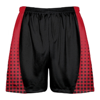 Red and Black Lacrosse Shorts - Lightning Wear