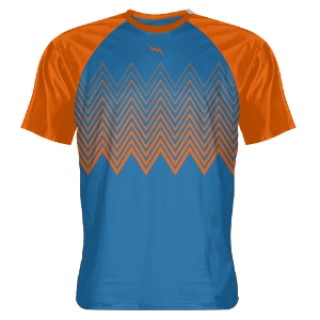 Royal Blue Zig Zag Shooting Shirts
