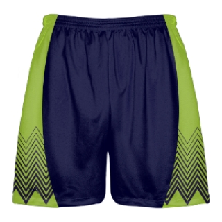 Navy Green Zig Zag Shorts