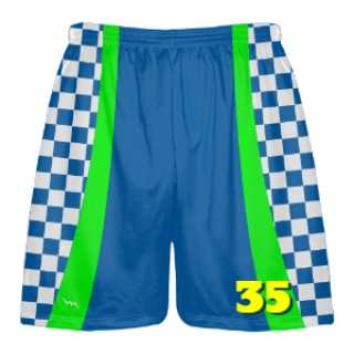 Checkerboard Lacrosse Shorts - Checker Lax Shorts