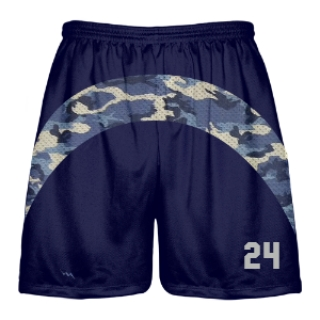 Blue Camo Shorts - Basketball Camouflage Shorts