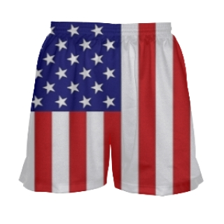 Womens American Flag Shorts