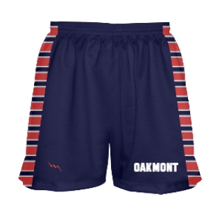 Womens Navy Blue and White Lacrosse Shorts