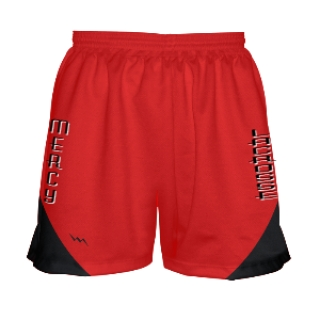 Girls Lacrosse Shorts Red