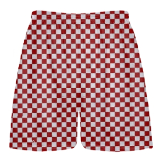 Red Checker Board Shorts